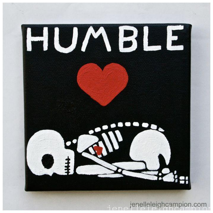 Humble (Skeleton) on Acrylic on Canvas by New Orleans Jackson Square Artist, Jenelle Leigh Campion MFA @jenelleleighc