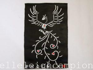 Phoenix (Skeleton) on Acrylic on Canvas by New Orleans Jackson Square Artist, Jenelle Leigh Campion MFA @jenelleleighc