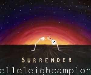 Surrender Sunset (Skeleton) on Acrylic on Canvas by New Orleans Jackson Square Artist, Jenelle Leigh Campion MFA @jenelleleighc