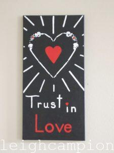 Trust In Love (Skeleton) on Acrylic on Canvas by New Orleans Jackson Square Artist, Jenelle Leigh Campion MFA @jenelleleighc