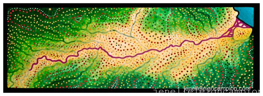 Amazon River (River) on Acrylic on Canvas by New Orleans Jackson Square Artist, Jenelle Leigh Campion MFA @jenelleleighc