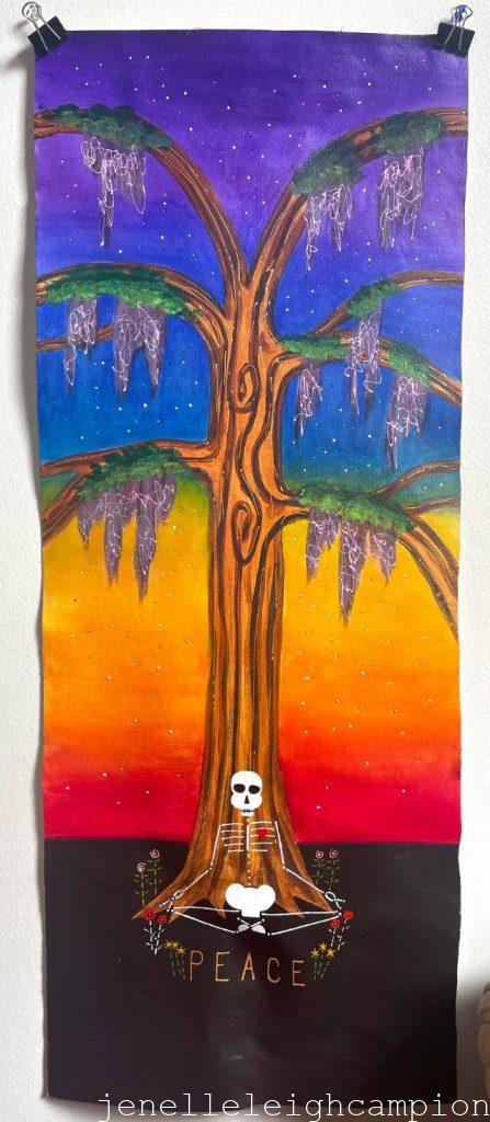 """acrylci on unstretched canvas, 16""""x40"""""""